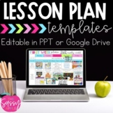 Digital Editable Weekly Lesson Plans 30+ templates in Powe