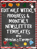 Editable Weekly Progress & Monthly Newsletter Templates