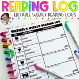 Editable Weekly Reading Log With Quick Comprehension Checks