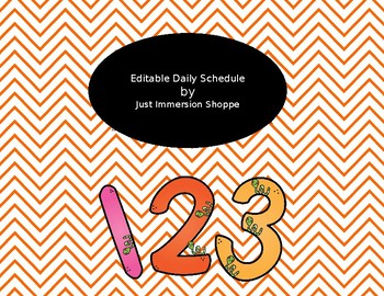 Editable Weekly Schedule