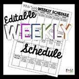 Editable Weekly Schedule Template