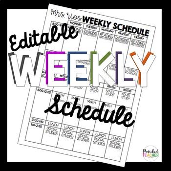 classroom schedule template teaching resources teachers pay teachers