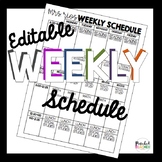 Editable Weekly Schedule Template