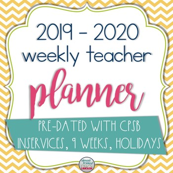 Editable Weekly Teacher Planner
