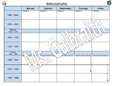 Editable Weekly Teaching Plan