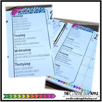 Editable Weekly To-Do Bookmark Checklist