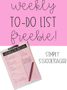 Editable Weekly To-Do List Freebie!