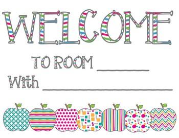 Editable Welcome Back Signs FREEBIE!