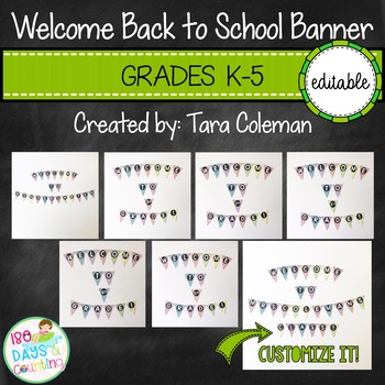 Welcome Back to School Banner Editable