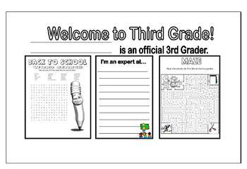 Editable Welcome Back to School Desk Mats