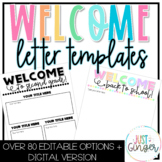 Editable Welcome Back to School Letters   Welcome Letter for Parents Template