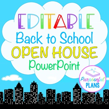 Editable Superhero City Back to School/Open House/Meet The Teacher PPT