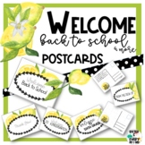 Editable Welcome Back to School Postcards All Grades | Lemon Theme PPT-5 Pack