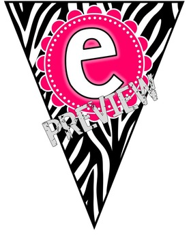 Editable Banner {Welcome Banner Included!}:  Zebra Theme
