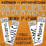 Editable Welcome Bookmarks