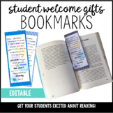 Editable Welcome Bookmarks! Get Your Students Excited About Reading