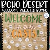Editable Welcome Bulletin Board: Boho Desert