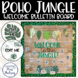 Editable Welcome Bulletin Board: Boho Jungle