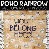 Editable Welcome Bulletin Board (Boho Rainbow)