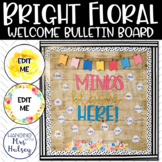 Editable Welcome Bulletin Board: Bright Floral
