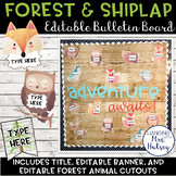 Editable Welcome Bulletin Board (Forest and Shiplap)