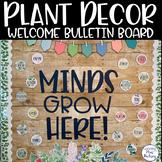 Editable Welcome Bulletin Board: Plants