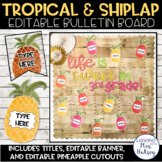 Editable Welcome Bulletin Board (Tropical and Shiplap)