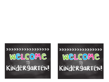 Editable Bright Chalkboard Welcome Cards