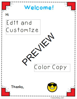 Editable Welcome Letter Template