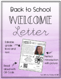 Editable Welcome/ Meet the Teacher Letter- Second Grade