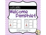 Editable Welcome Pamplet
