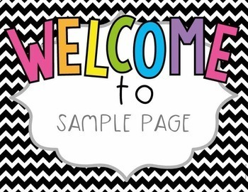 Editable Welcome Posters