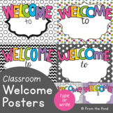 Welcome Sign - Editable Welcome Posters