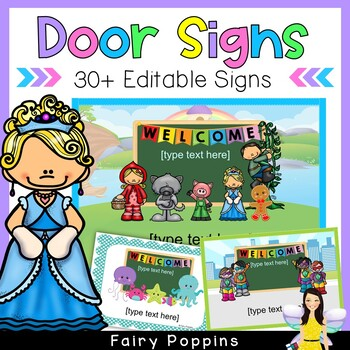 Editable Classroom Welcome Signs (40 designs)