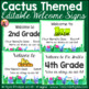 Editable Welcome Signs for K-5 - Cactus Theme