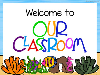 Image result for welcome ocean theme classroom