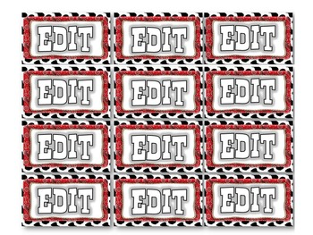 Editable Western Poster, Labels and Pennants