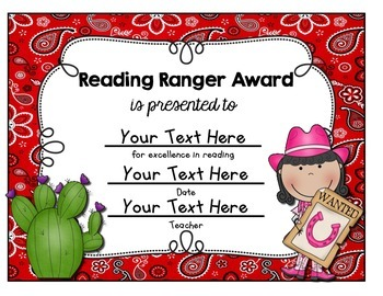 Editable - Western Themed End-of-the-Year Awards