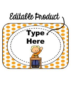 Editable When I'm done...(orange polka dot background)