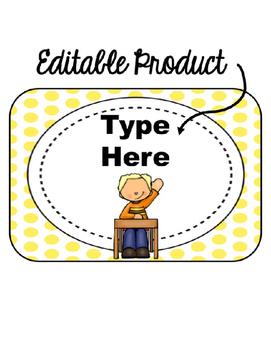 Editable When I'm done...(yellow polka dot background)