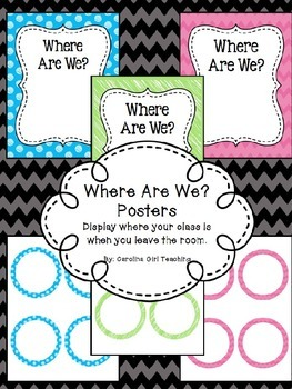 Where Are We? Poster/Sign