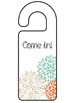 {Editable}  Where Are We? Door Hanger Set w/ Flower Theme