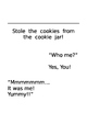 "Editable ""Who Stole the Cookies"" Class Book"