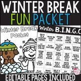 Editable Winter Break Packet