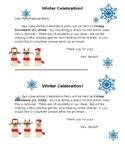 Editable Winter Celebration Party Reminder