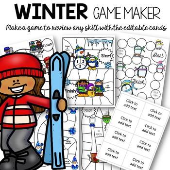 Editable Winter Games