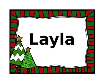 Editable Winter Name Tags
