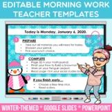 Editable Winter PowerPoint + Google Slides Teacher Templat