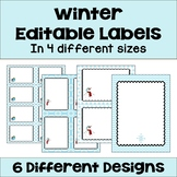 Editable Winter and Snowman Labels