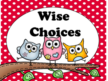 Class Rules Posters: Wise Choices (Editable)